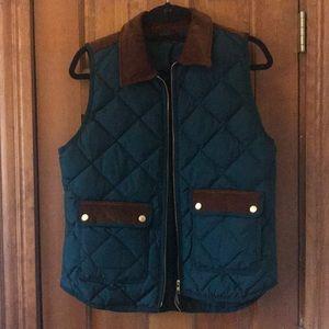 J.Crew Excursion vest with corduroy trim
